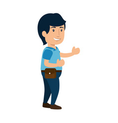 man cute cartoon vector image