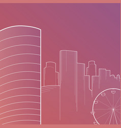 modern big city skyline background with vector image