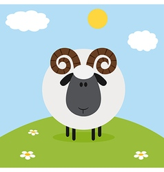 Ram on a Farm Backdrop vector image vector image