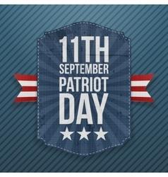 September 11th patriot day paper emblem vector