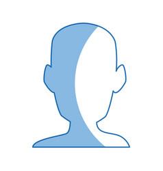 silhouette head man front view portrait vector image