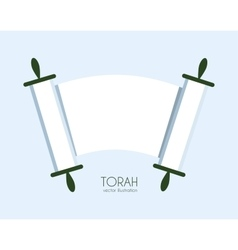 Torah scroll icon vector image