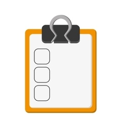 Clipboard with check list icon vector