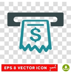 Receipt terminal icon vector