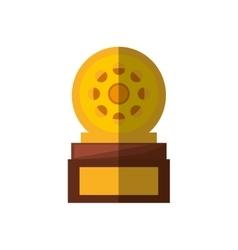Movie industry trophy awards shadow vector