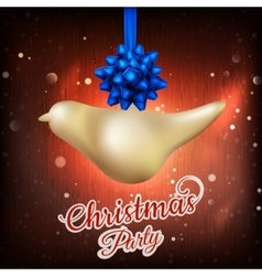 Christmas fir tree with lights EPS 10 vector image
