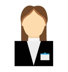 Hotel receptionist icon vector