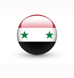 Round icon with national flag of syria vector