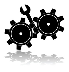 Wrench in the cogs vector
