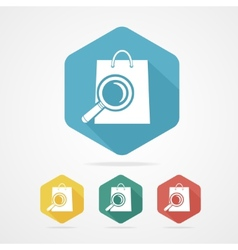 Isolated shopping bag icon with a magnifier vector