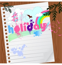 holiday graphic vector image