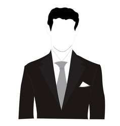 Business man silhouette vector
