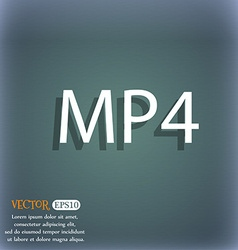Mpeg4 video format sign icon symbol on the vector
