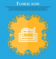 Newspaper floral flat design on a blue abstract vector