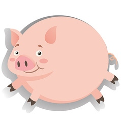 Fat pig with happy face vector