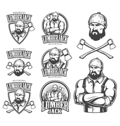Lumberjack emblems vector