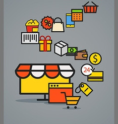Modern web commerce scheme vector