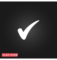 Confirm flat icon vector