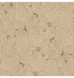 Seamless pattern with book pages vector
