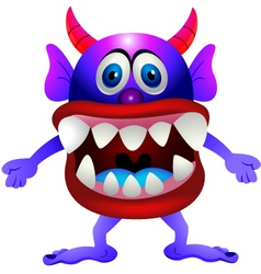 Scary monster vector image