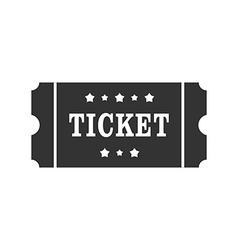 Icon of cinema Ticket Ticket sign symbol vector image