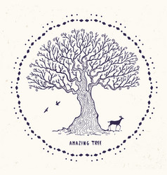 amazing magic tree vector image