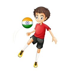 An indian soccer player vector