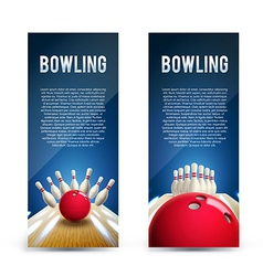 bowling realistic theme eps 10 broshure vector image