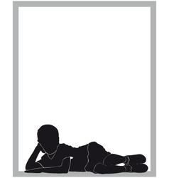 boy silhouette vector image vector image