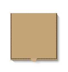 brown cardboard pizza box top view vector image