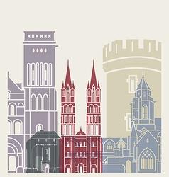 Caen skyline poster vector
