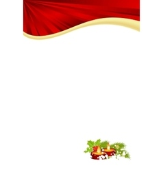christmas red template vector image vector image