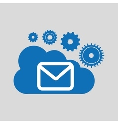 Cloud network email message connection design vector