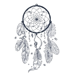 Drawing of Dreamcatcher vector image vector image