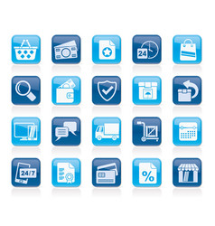 E-commerce and shop icons vector