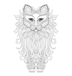 Fluffy Cat zentangle vector image