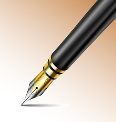 Fountain pen vector image vector image