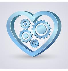 Gear heart vector