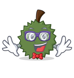 Geek durian character cartoon style vector