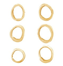 Gold circle set vector image vector image