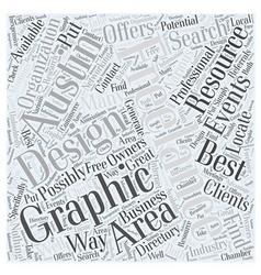 Graphic design austin word cloud concept vector