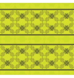 Green floral lace pattern vector image vector image