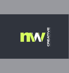 green letter nw n w combination logo icon company vector image
