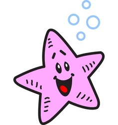Happy Starfish vector image