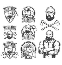 Lumberjack emblems vector