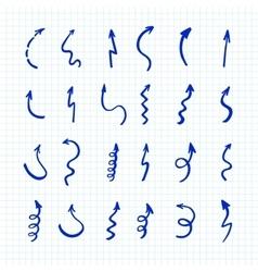 Marker arrows set vector image vector image