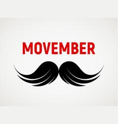 Movember mustache icon vector