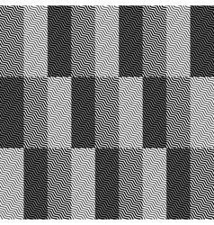 Op Art Design Zig Zag Checkered Seamless Pattern vector image