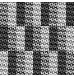 Op art design zig zag checkered seamless pattern vector