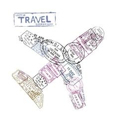 Passport stamps vector